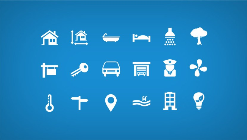 18 Free Real Estate Icons PSD