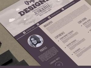 Free Vintage Resume Template AI
