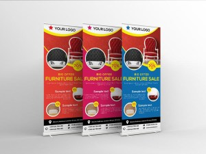 Furniture Roll-up Banner Template