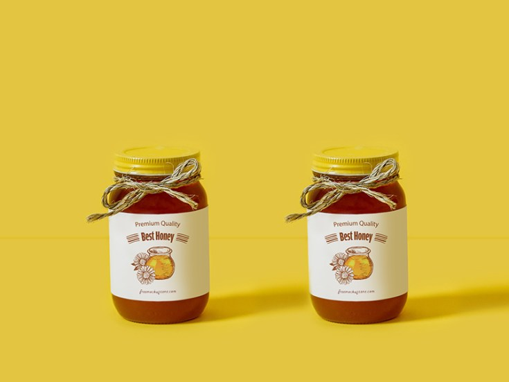 Free Honey Packaging Mockup PSD