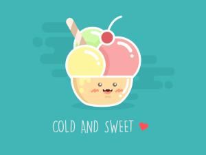 Ice Cream Illustration Sketch Template