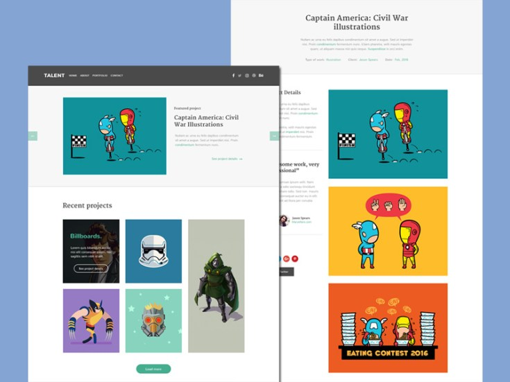 Illustrator portfolio Website Template