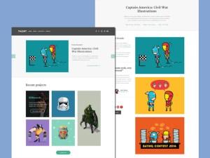 Illustrator portfolio Website Template