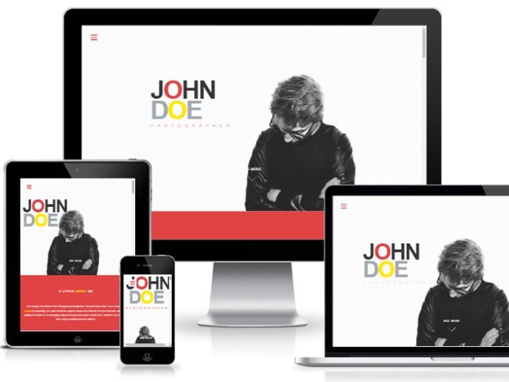 JohnDoe - One Page Portfolio Bootstrap Template