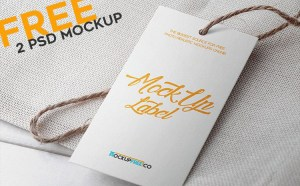 Free Label Branding Mockup PSD