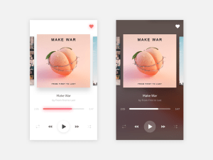 Clean Music Player UI Sketch
