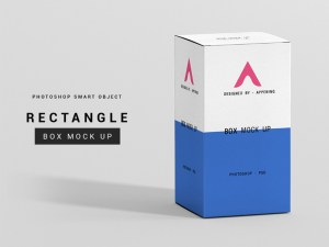 Rectangle Box Mockup PSD