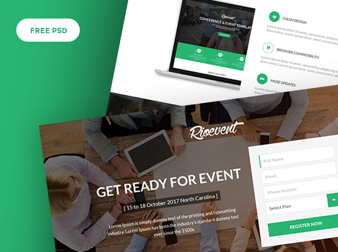 RioEvents : Free Event PSD Web Template
