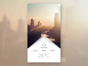 Simple Weather App UI
