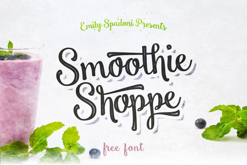 Smoothie Shoppe – Free Script Typeface