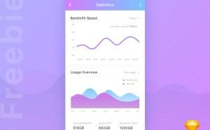 Statistics Mobile App UI Design