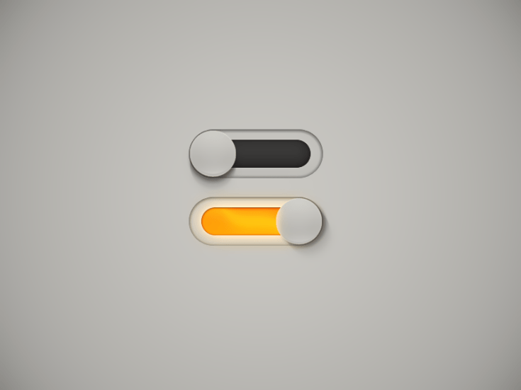 Switches ON/Off UI PSD