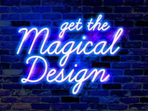 Wall Neon Text Effect PSD