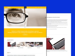 Yellow HTML Template