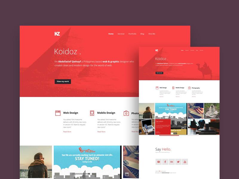 Koidoz : Personal Creative Website Template