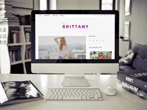 Brittany Light - Clean Blogging Wordpress Theme