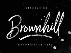 Brownhill Script Free Typeface