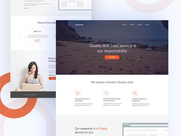 Modern PSD Website Template