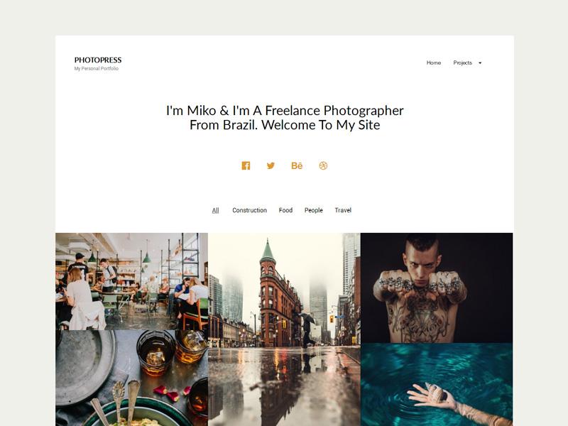 PhotoPress – Photography WordPress Theme
