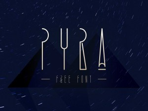Pyra - Ancient Egypt Style Font