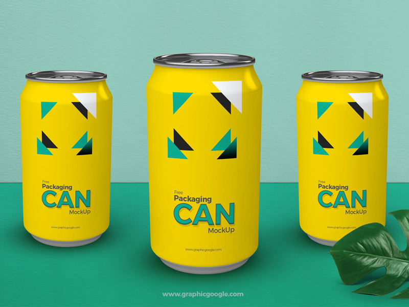 Soft Drink Can Packaging Mockup