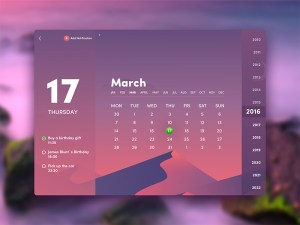 Calendar widget UI Design