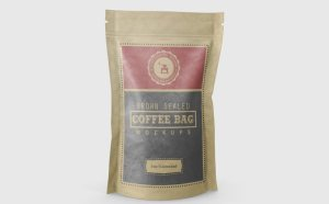 Coffee Bag Mockup PSD