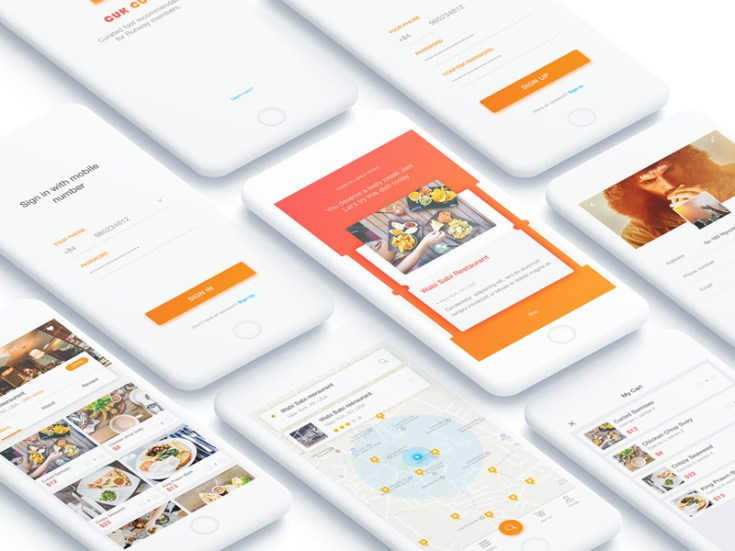 Cook Mobile UI Design PSD