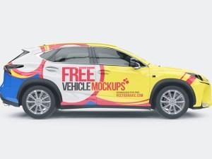 Free Car Mockup PSD