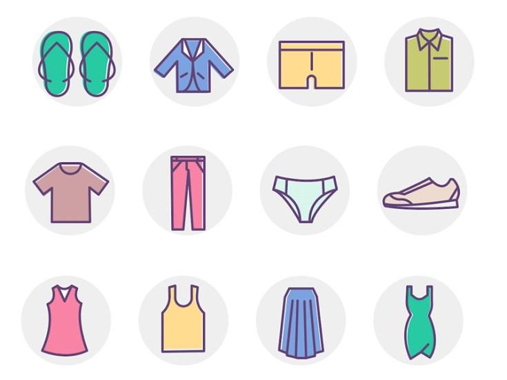 Free Clothing Icon Set