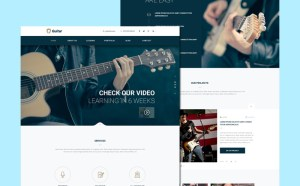 Free Music School Website Template