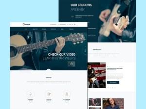 Free Music School Website Template