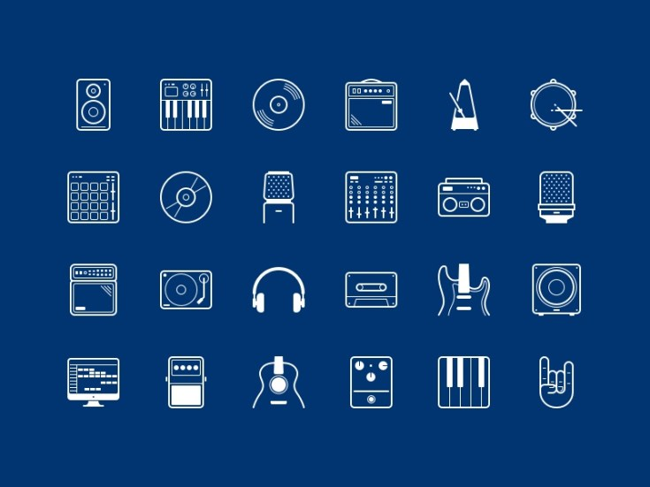 Free Music Sketch Icon