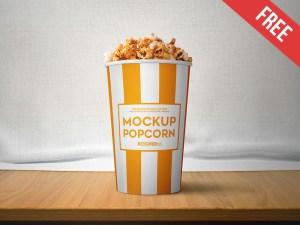 Free Popcorn Mockup PSD