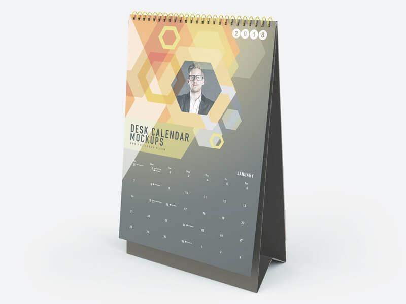 Free Realistic Desk Calendar Mockups