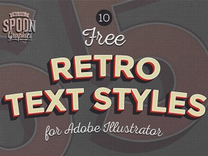 Free Retro Illustrator Text Effect