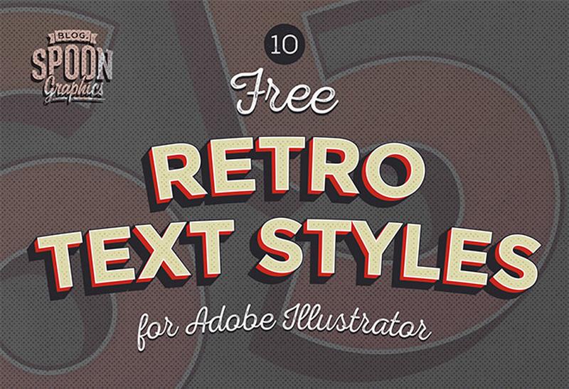Free Retro Illustrator Text Effect