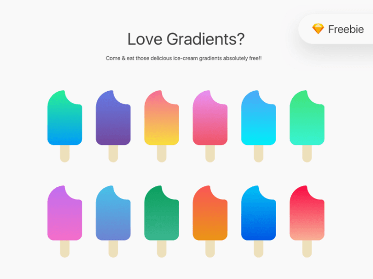 Free Sketch Gradients Bundle