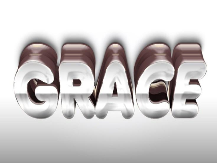 Grace 3D Text Effect PSD