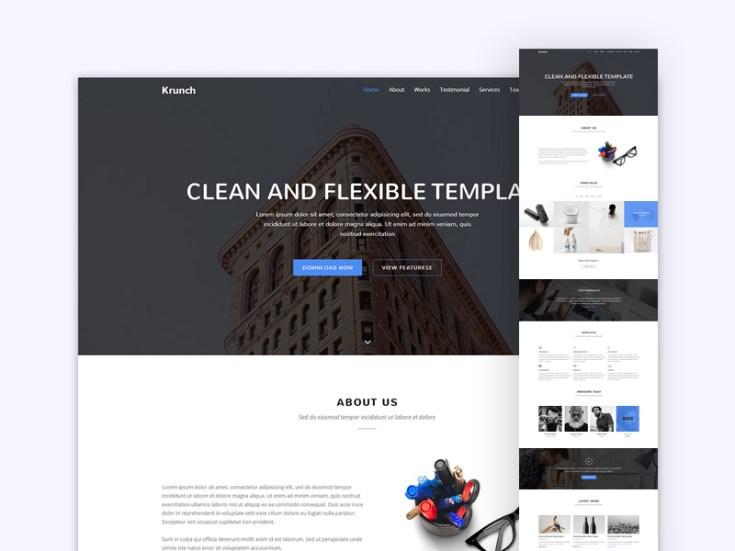 Krunch - Agency Landing Page Template