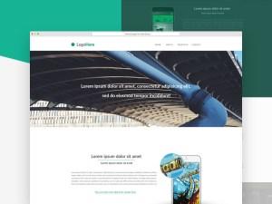 Minimal Landing Page PSD Template
