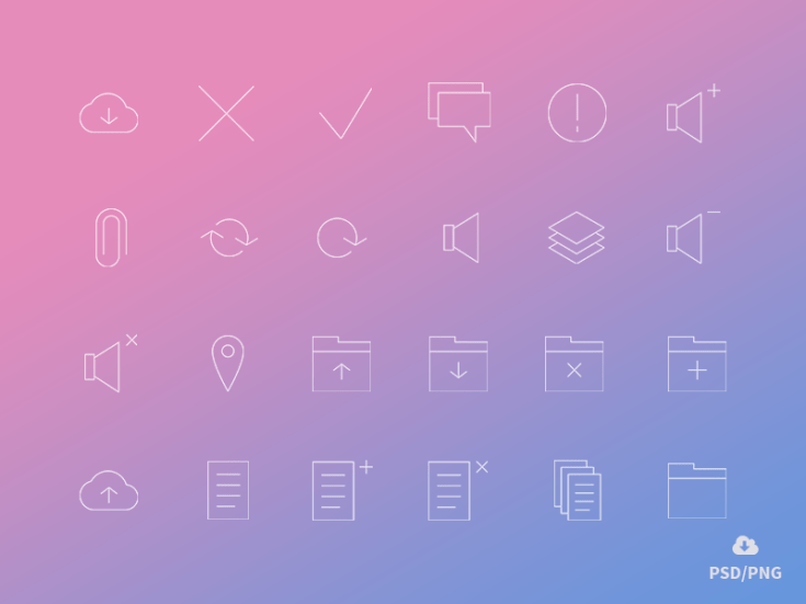 Minimal Outline Management Icons