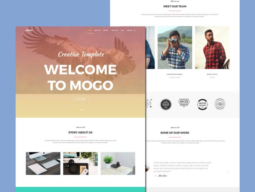 Mogo – One Page Portfolio WordPress Theme