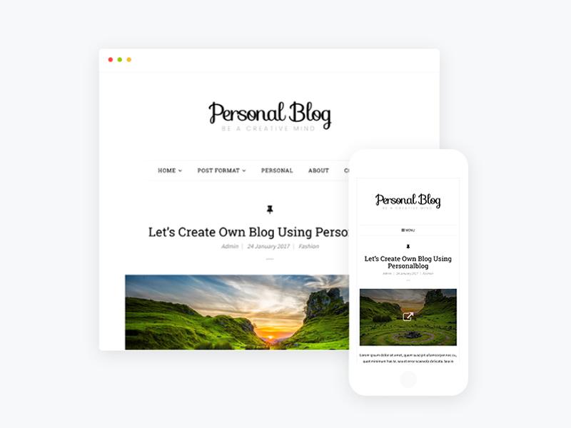 Free Responsive Personal Blog WordPress Theme