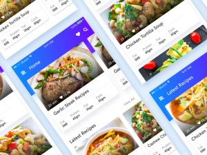 Recipe UI Kit PSD