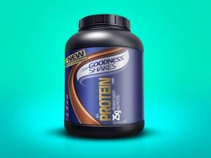 Supplement Bottle Mockup PSD