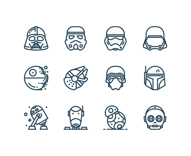 Vector Star Wars Icons