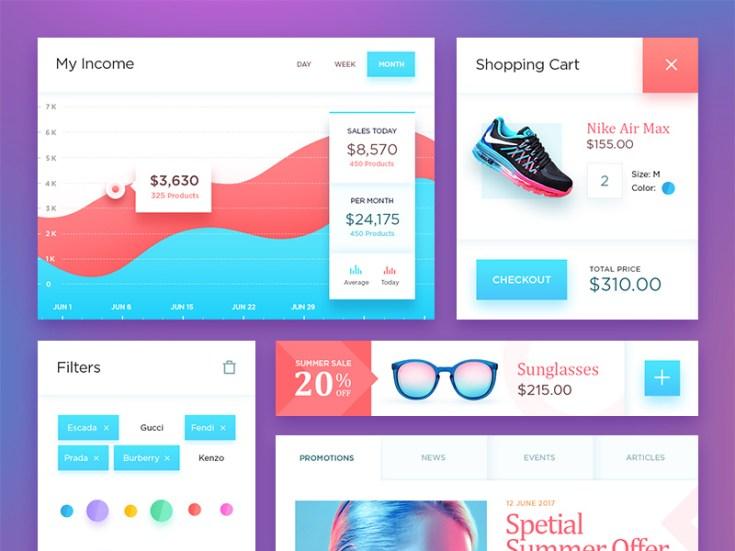 Vibrant Ecommerce UI Kit