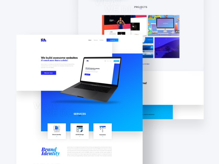 Icarus - Free Agency PSD Website Template
