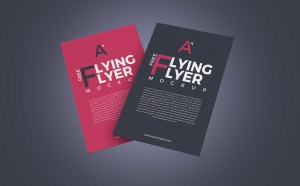 2 Free Flying Flyer Mockup